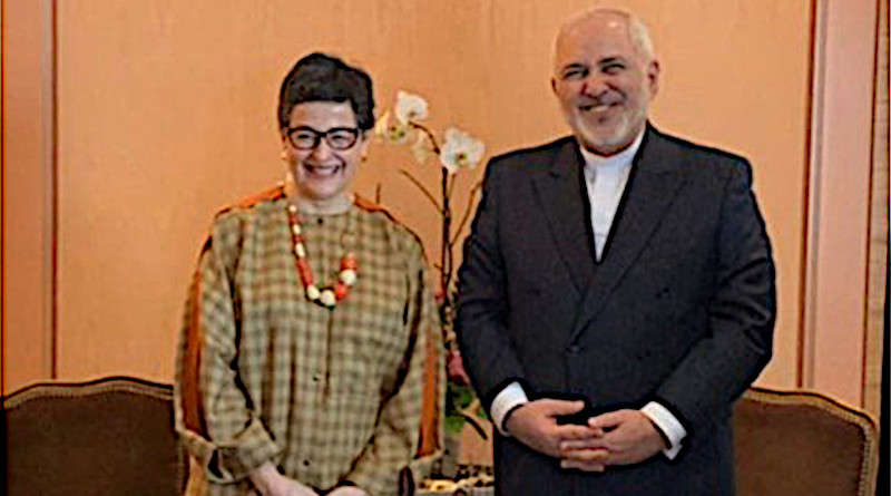Iranian Foreign Minister Mohammad Javad Zarif and Spain's Foreign Minister Arancha Gonzalez Laya. Photo Credit: Tasnim News Agency
