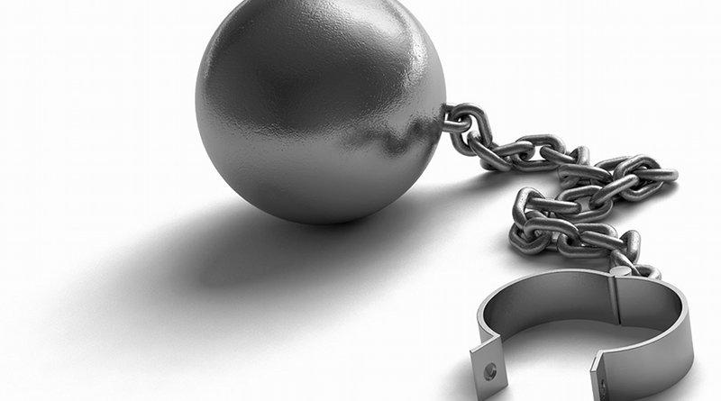 Ball And Chain Restrain Heavy Icon Symbol Prisoner draft slave