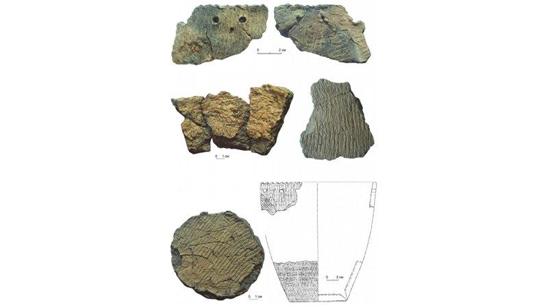 Shards of pottery from a cooking pot used by Siberian hunters CREDIT Yanshina Oksana