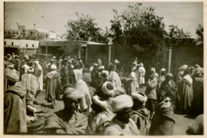 Anonymous still taken on April 23, 1936 of the Arab market of Sefrou