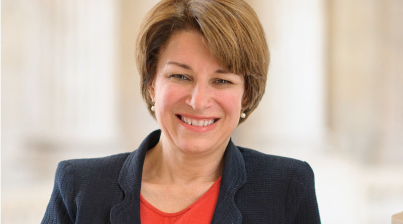 Official portrait of U.S. Senator Amy Klobuchar (D-MN). Photo Credit: US Senate, Wikimedia Commons