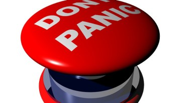Dont Panic Panic Button Stress Worry Fear Stop
