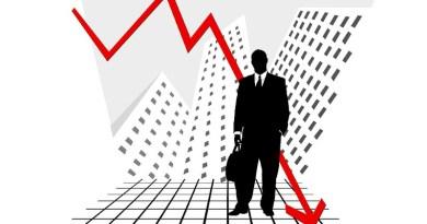 Stock Market Crash Statistics Chart Graphic Bar Symbol Arrow