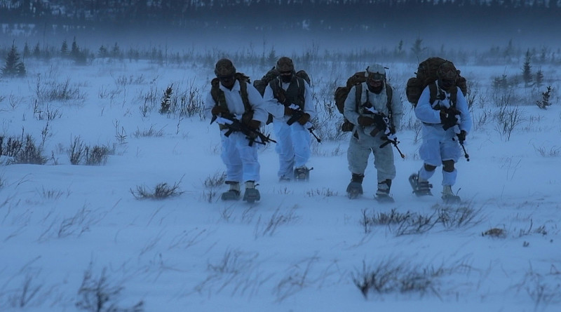 Paratroopers take part in U.S. Northern Command's Arctic Edge 20 exercise, Fort Greely, Alaska, Feb. 29, 2020. Arctic Edge is a biennial homeland defense exercise designed to provide high quality and effective training in extreme cold weather of the Arctic. Photo Credit: Air Force Staff Sgt. Diana Cossaboom