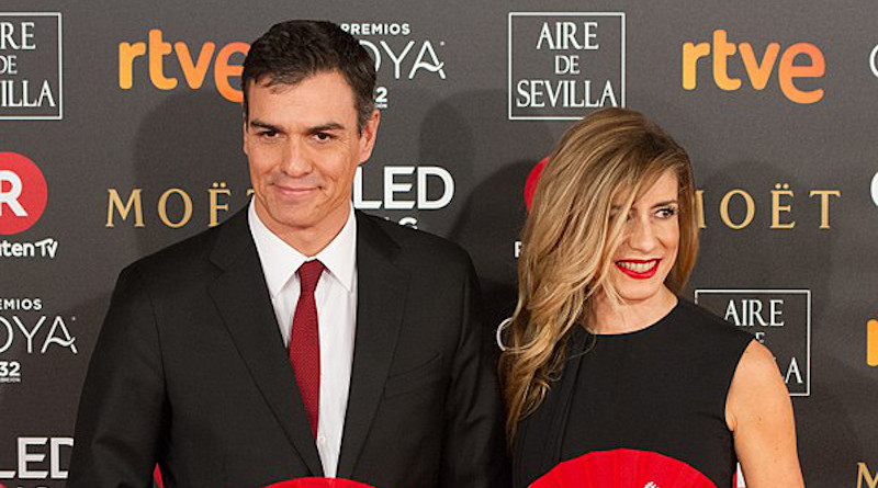 File photo of Spain's Prime Minister Pedro Sánchez and his wife Begoña Gómez Fernández. Photo Credit: Carlos Delgado, Wikimedia Commons