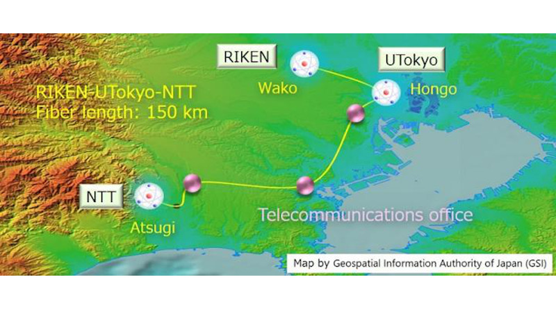 Researchers connected three laboratories in a 100-kilometer region with an optical telecommunications fiber network stable enough to connect optical atomic clocks. CREDIT Tomoya Akatsuka, Nippon Telegraph and Telephone Corporation