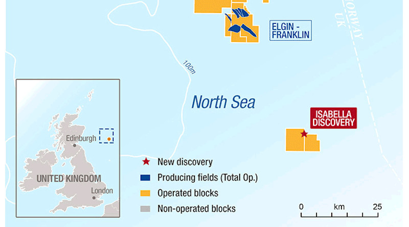 Total's new discovery in Western Central Graben in North Sea. Credit: Total