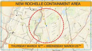 (New Rochelle containment zone: Screenshot from Twitter)