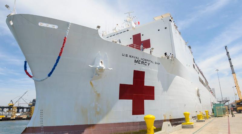 The USNS Mercy. Photo Credit: Navy Petty Officer 2nd Class Zach Kreitzer