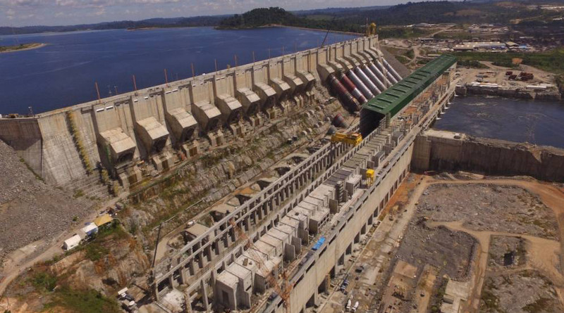 Brazil's Belo Monte hydroelectric complex is the third-largest in the world in installed capacity, able to produce 11,200 megawatts. Copyright: PAC-Ministry of Planning, Brazil [CC BY-NC-SA 2.0].