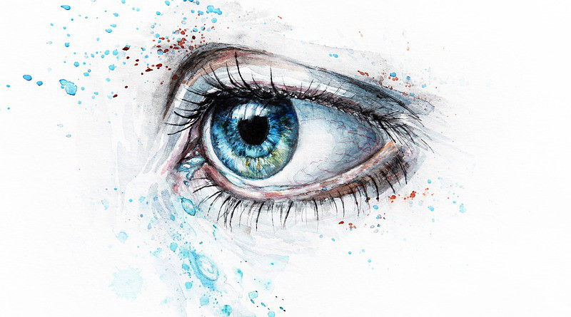 Tears Blue Watercolor Watercolour Painting Artistic Eye