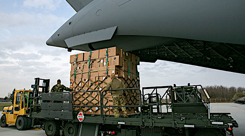 Coronavirus response: Allied plane brings 45 tons of supplies to Bucharest. Photo: NATO North Atlantic Treaty Organization (CC BY-NC-ND 2.0)