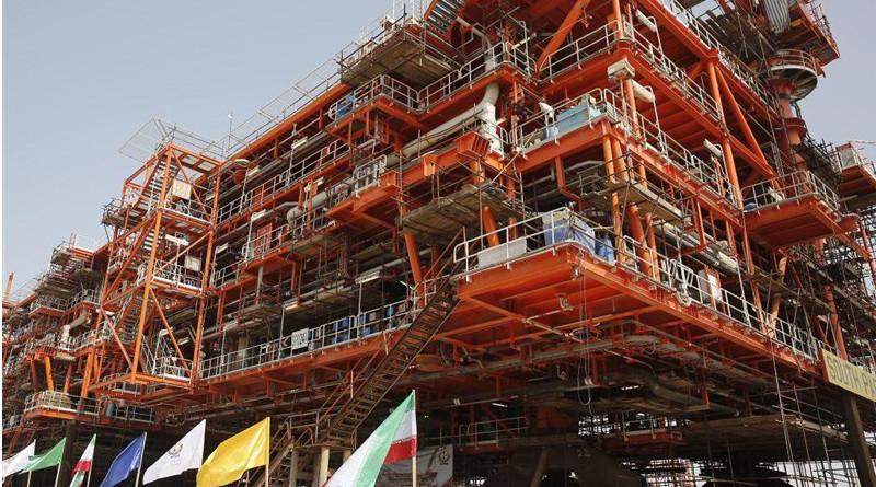 Offshore oil platform in Iran. Photo Credit: Tasnim News Agency