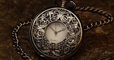 time change Pocket Watch Jewel Chain Stone Time Clock Hour