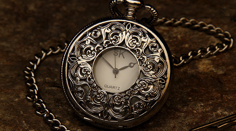 time change Pocket Watch Jewel Chain Stone Time Clock Hour
