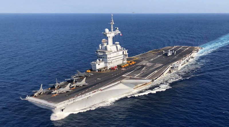 File photo of France's Charles De Gaulle nuclear-powered aircraft carrier. Photo Credit: U.S. Marine Corps photo by Maj. Joshua Smith