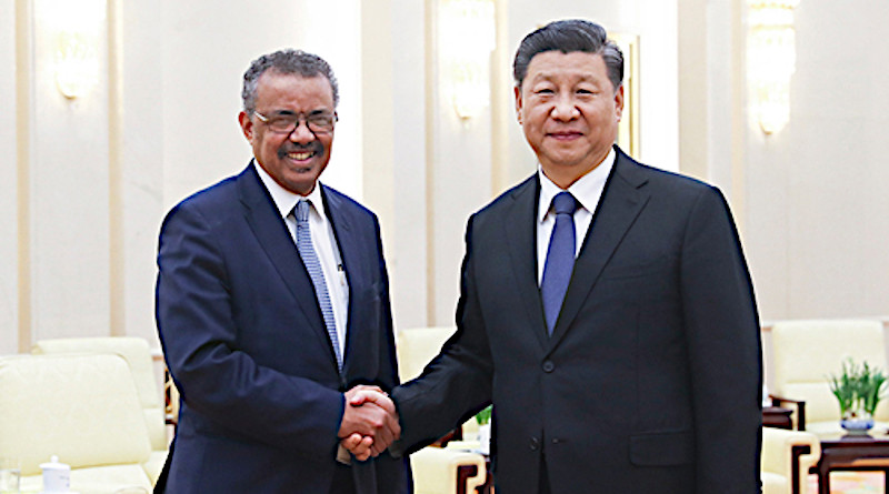 China's President Xi Jinping (right) with WHO's Director-General Tedros Adhanom Ghebreyesus. Photo Credit: China government