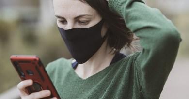Smartphone Covid-19 Mask Coronavirus Quarantine Virus Epidemic Disease