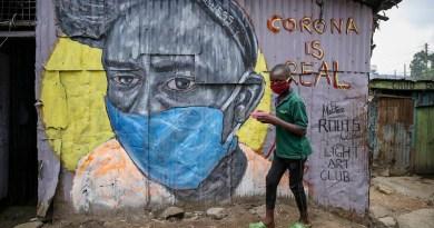 coronavirus covid-19 mask boy africa