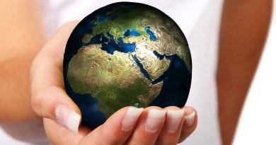 Woman Hand Earth Globe Europe Africa Asia Ball