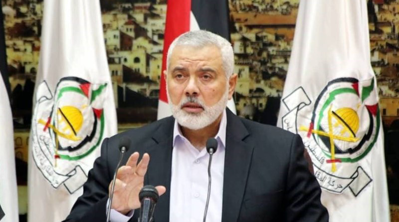Hamas' Ismail Haniyeh. Photo Credit: Tasnim News Agency