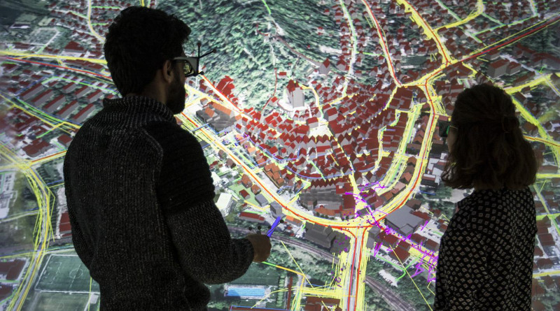 HLRS researchers have been using a combination of data and 3D modelling to develop a digital twins of the city of Herrenberg. CREDIT Fabian Dembski, HLRS.