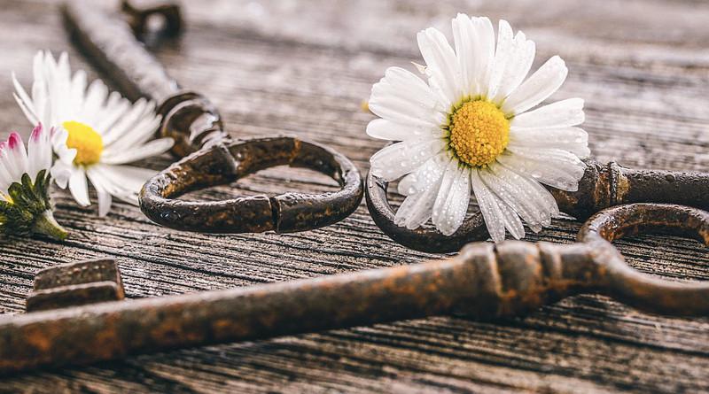 Mother Day Daisy White Key Antique Mood Love Symbols