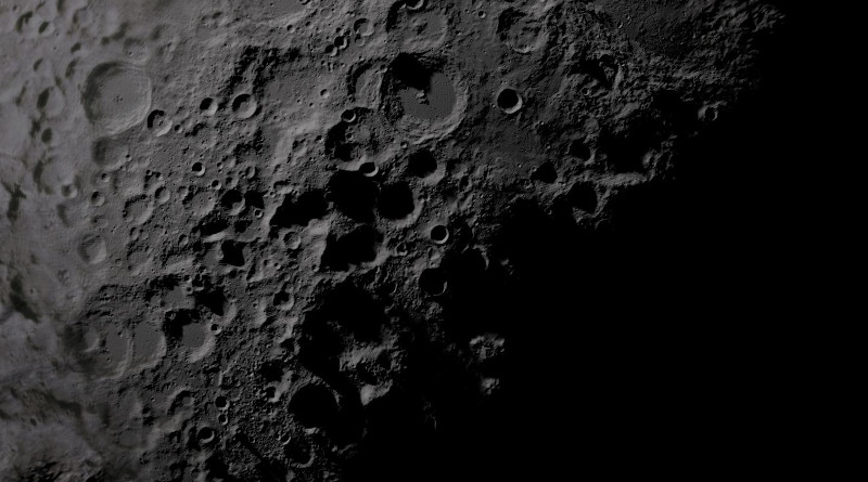 The heavily cratered surface of the Moon's South Pole. CREDIT: NASA/Goddard Space Flight Centre Scientific Visualization Studio
