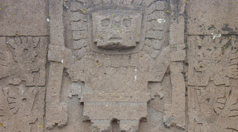 An international research team has conducted the first in-depth, wide-scale study of the genomic history of ancient civilizations in the central Andes mountains and coast before European contact. The analysis included representatives of iconic civilizations in the Andes from whom no genome-wide data had been reported before, including the Moche, Nasca, Wari, Tiwanaku and Inca. Shown here is a detail from the Tiwanaku Gate of the Sun. CREDIT Miguel Angel López