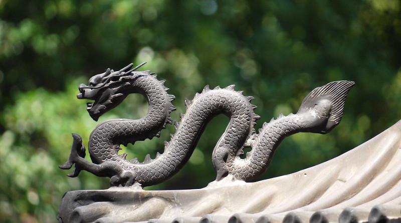 Dragon China Monument Tourism Travel Temple Culture
