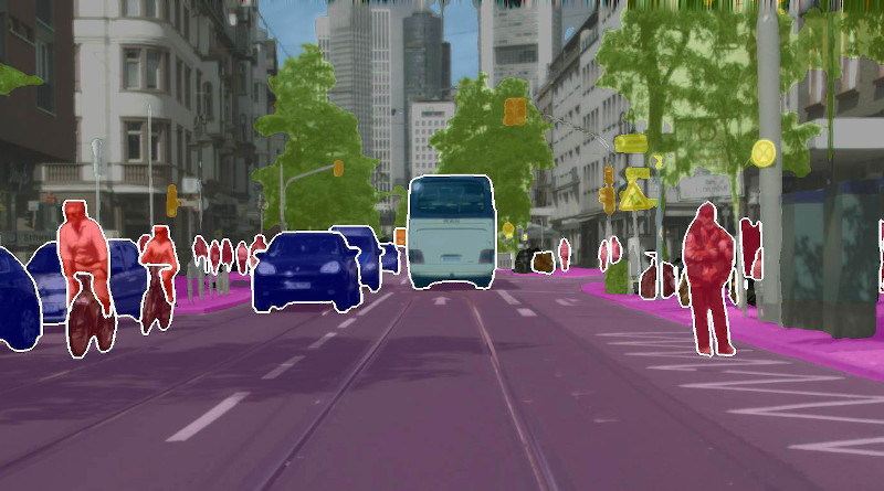 Red for people, blue for cars: A new method uses artificial intelligence (AI) model that enables coherent recognition of visual scenes more quickly and effectively. Source: Abhinav Valada