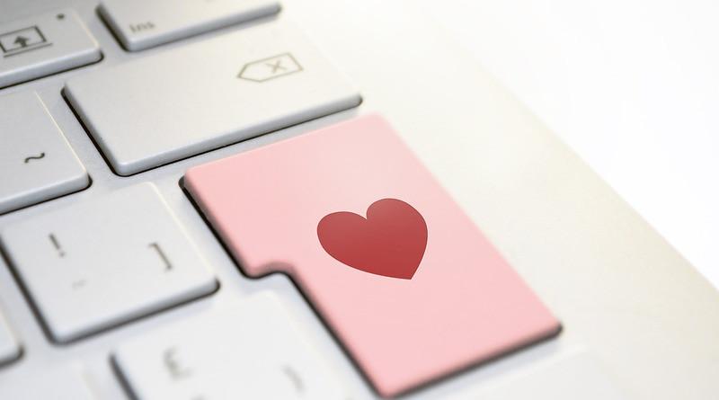 Online Dating Romance Heart Love Keyboard Enter Button Computer Laptop