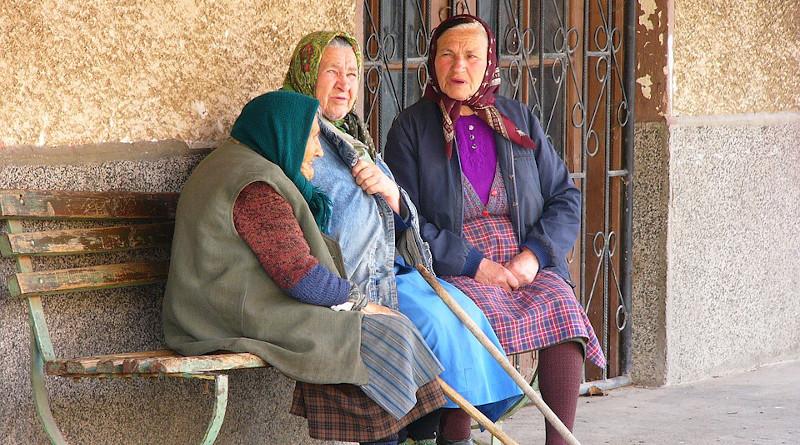 Bulgaria Village Women Peasants Hiking Smolsko