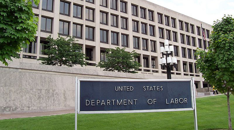 The Frances Perkins Building of the U.S. Department of Labor headquarters in Washington, D.C.. Photo Credit: Ed Brown, Wikipedia Commons