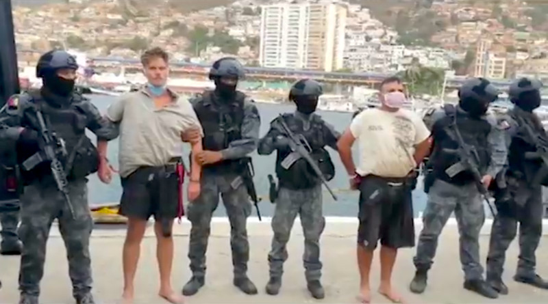 SEBIN agents displaying captured former US Green Berets in Venezuela. Photo Credit: Prensa Presidencial - Government of Venezuela