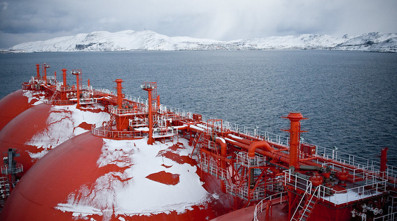 View from Arctic Discoverer LNG carrier, Hammerfest in the background. Photo Credit: Torbein Rønning / Flickr