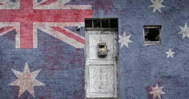 Australia Flag Wall Brick Vintage National Nation