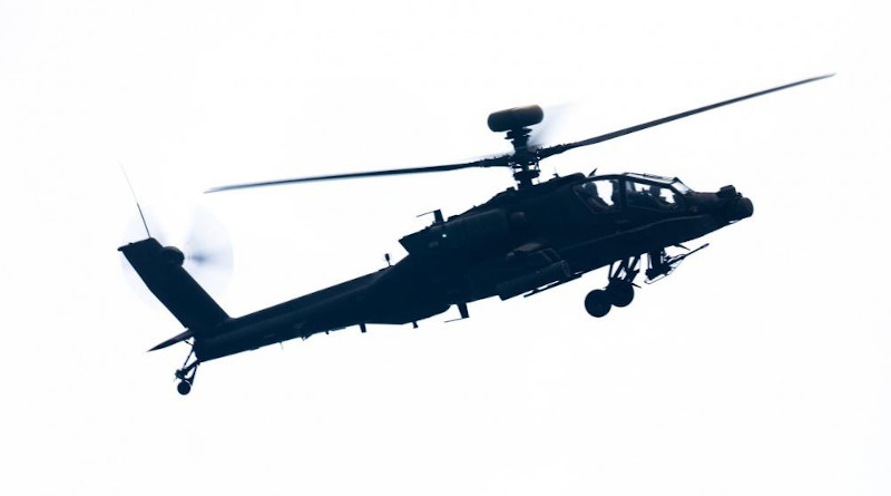 A US Army AH-64E Apache attack helicopter. Photo Credit: US Army/Specialist Cody Rich