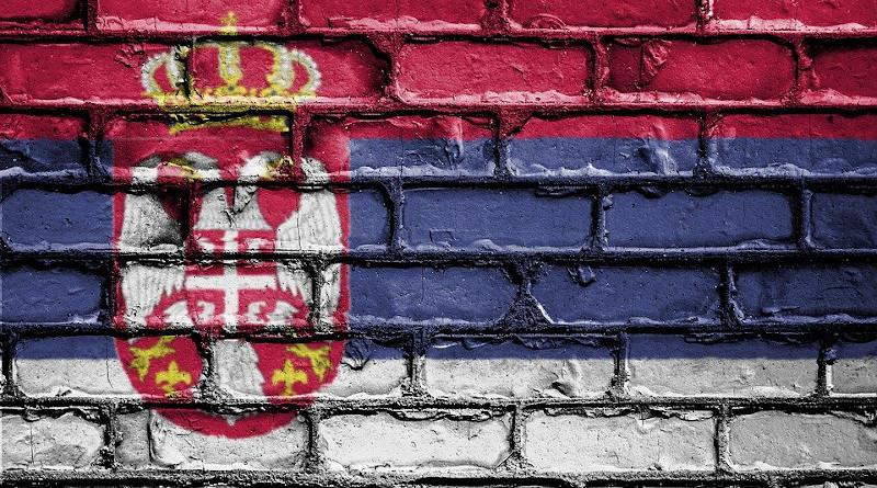 Sserbia Flag Banner Nation Emblem Country National