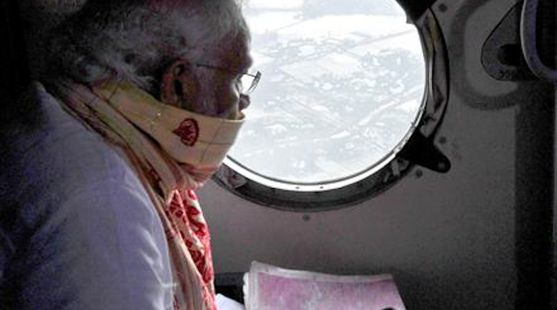 The Prime Minister, Shri Narendra Modi makes an aerial survey of Amphan Cyclone affected areas in Odisha, India. Photo Credit: India PM Office