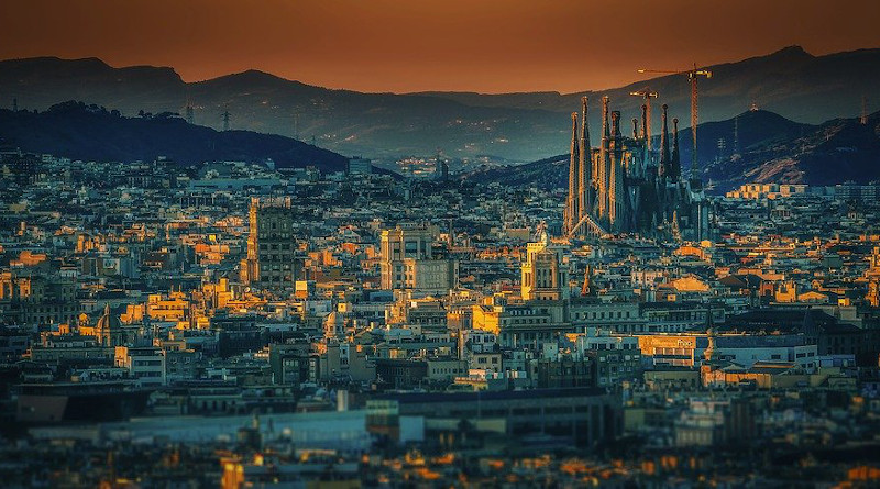 Barcelona City Spain Sagrada Familia Cathedral Architecture
