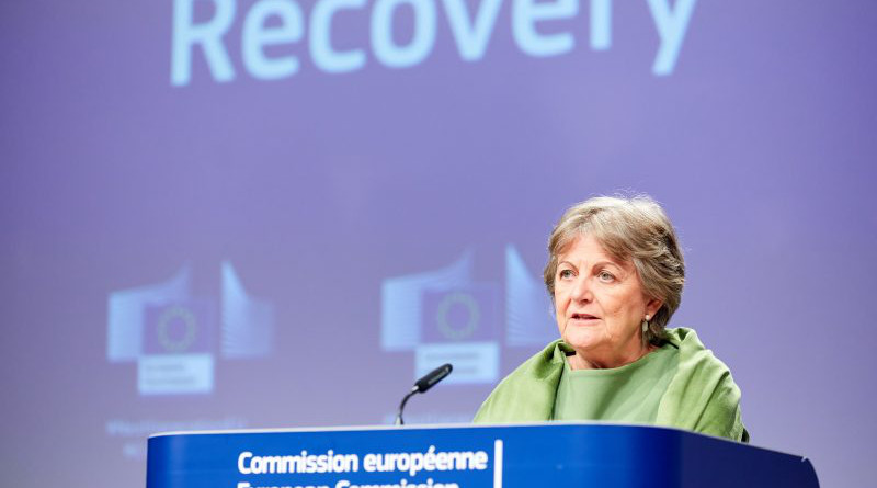 Commissioner for Cohesion and Reforms Elisa Ferreira during the presentation of REACT-EU. [European Commission]
