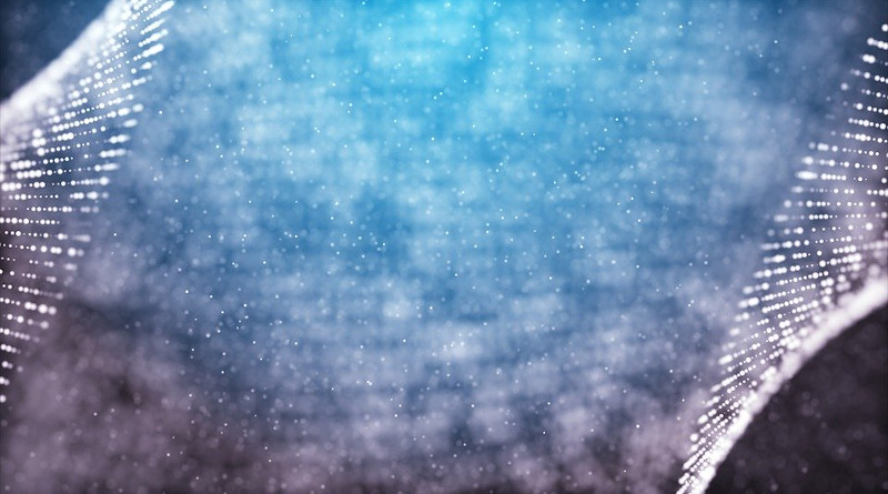 Dots Grid Form Blue Abstract Background