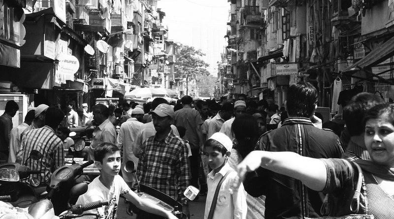 Crowd Crowded Street People Mumbai City India