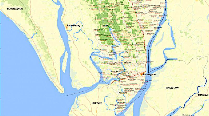 Ponnagyun Township of Sittwe District in the Rakhine State of Myanmar.