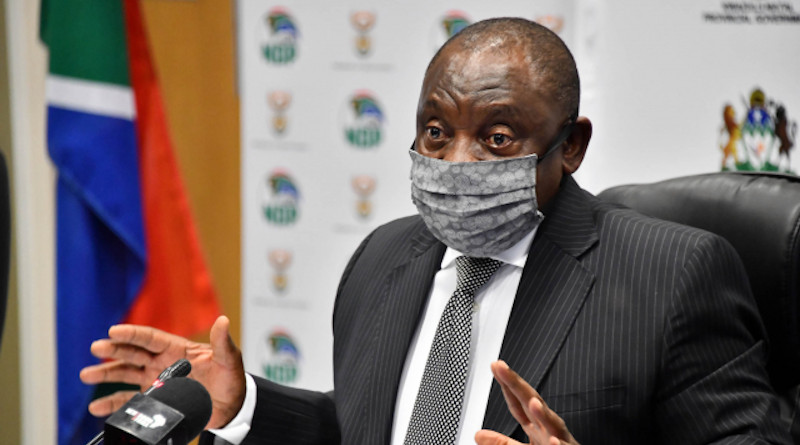 South Africa's President Cyril Ramaphosa visits KwaZulu-Natal to assess the province's COVID-19 response. Photo Credit: SA News