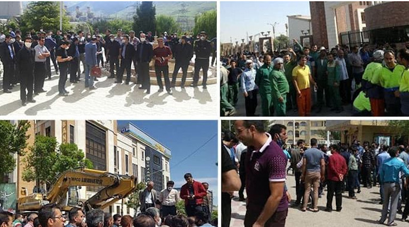 Workers throughout Iran protest. Photo Credit: Iran News Wire