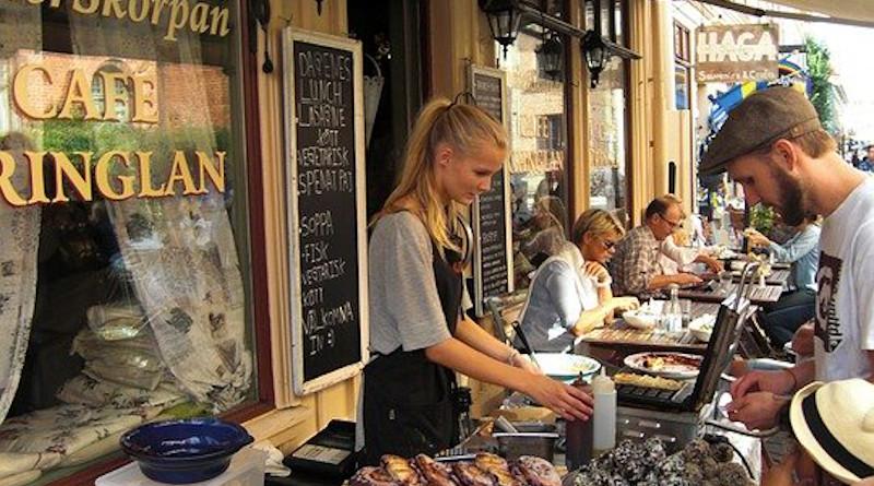 Restaurant Street Coffee Gothenburg Sweden Cafe Downtown