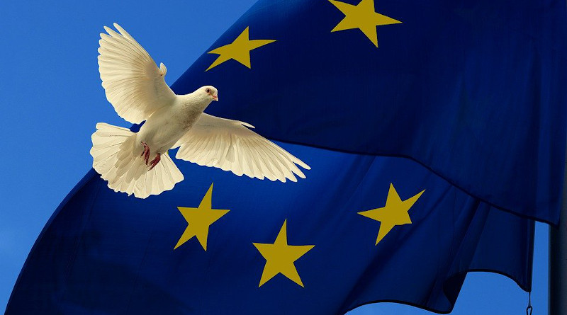 Europe Flag Harmony Dove Peace Dove Unit European