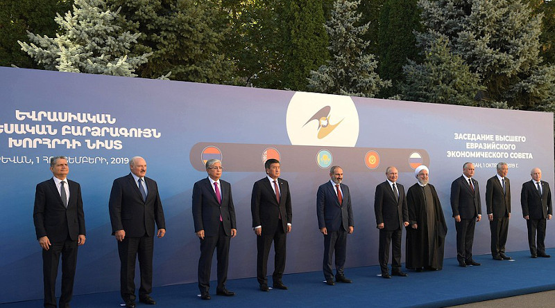 Participants in the Supreme Eurasian Economic Council meeting in 2019. Photo Credit: Kremlin.ru